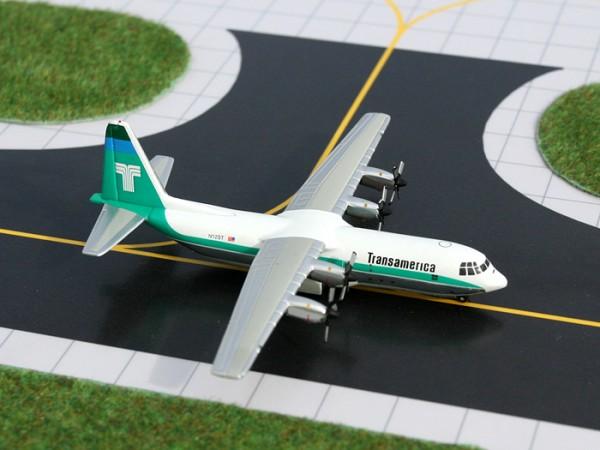 Lockheed L-100 Hercules Transamerica Airlines N12ST Scale 1/400