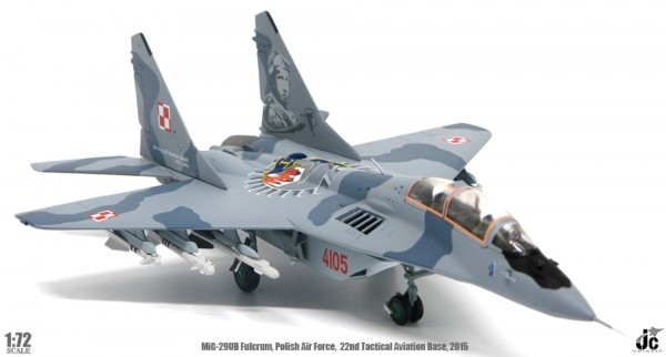 Mikojan-Gurewitsch MiG-29UB Fulcrum Polish Air Force,22nd Tactical Aviation Base,May, 2015 Scale 1/7