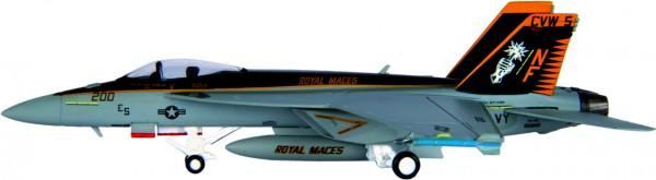 McDonnell Douglas F/A-18E Hornet USN, VFA-27 (Royal Maces) CVW-5 Scale 1/200