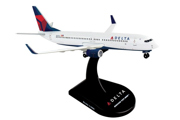 POSTAGE STAMP Boeing 737-800 Delta Airlines Scale 1/300