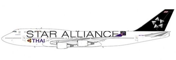 """Boeing 747-400 Thai Airways """"Star Alliance livery"""" Flaps Down Version HS-TGW Scale 1/400 #"""