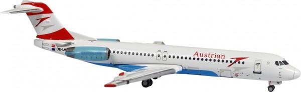 """Fokker F-100 Austrian Airlines """"Goodbye Fokker"""" OE-LVE Scale 1/400"""