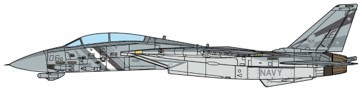 Grumman F-14D Tomcat U.S. NAVY VF-2 Bounty Hunters NE106, 2002 Scale 1/72 #