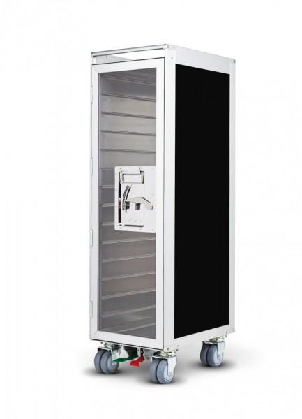 """Flugzeug Trolley """"onecolor"""" black Tür/Door transparent"""