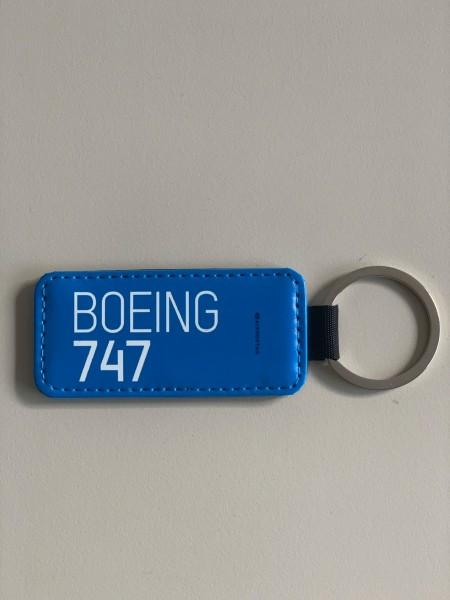 Leather Keychain - Boeing 747