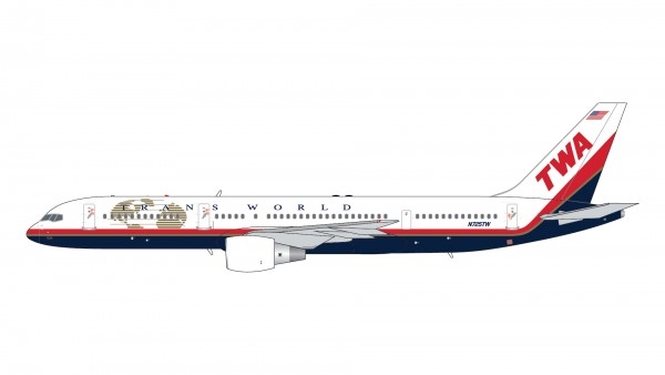 """Boeing 757-200 Trans World Airlines (TWA) """"Final Livery"""" N725TW Scale 1/400"""