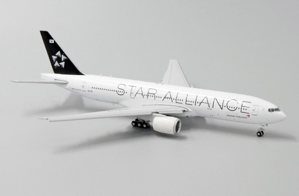 """Boeing 777-200ER Asiana Airlines """"Star Alliance Livery"""" Flap Down Version HL7732 Scale 1/400"""