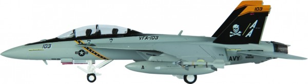 McDonnell Douglas F/A-18F Hornet USN VFA-103 (Jolly Rogers) CVW-17 Scale 1/200