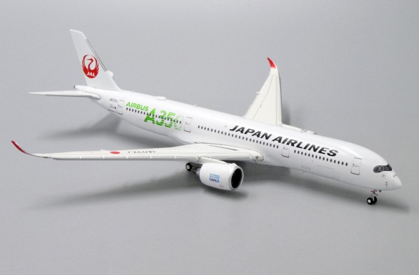 Airbus A350-900XWB Japan Airlines (JAL Green) Flaps Down Version JA03XJ Scale 1/400