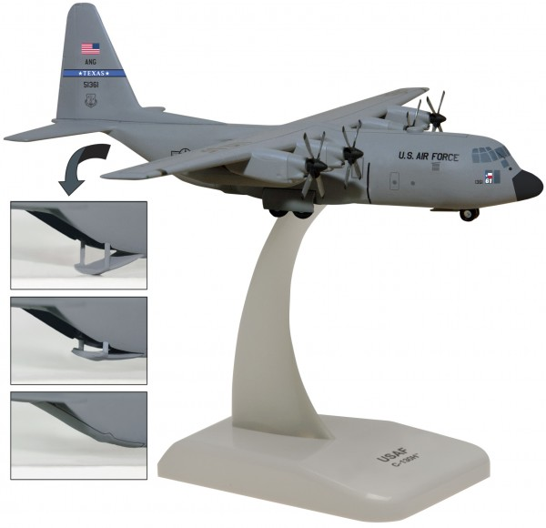 Lockheed C-130H US Air Force Texas Air National Guard with Optional ramp door Scale 1/200