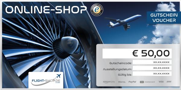 Geschenkgutschein 50 EURO - Flight-Shop