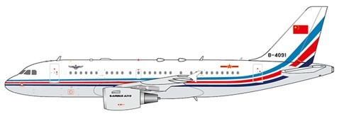 Airbus A319 China Air Force B-4091 Scale 1/400