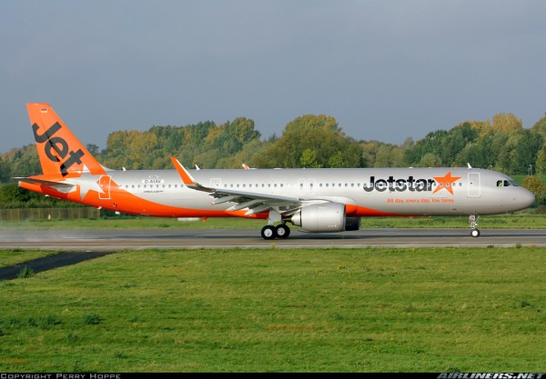 Airbus A321neo Jetstar Japan JA26LR Scale 1/400