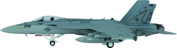 """McDonnell Douglas F/A-18E Hornet US Navy VFA-14 """"Tophatters"""", CVW 11, NAS Lemoore,NH 206 Scale 1/200"""
