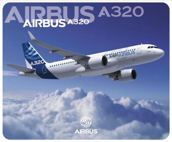 Airbus A320neo air to air Mousepad
