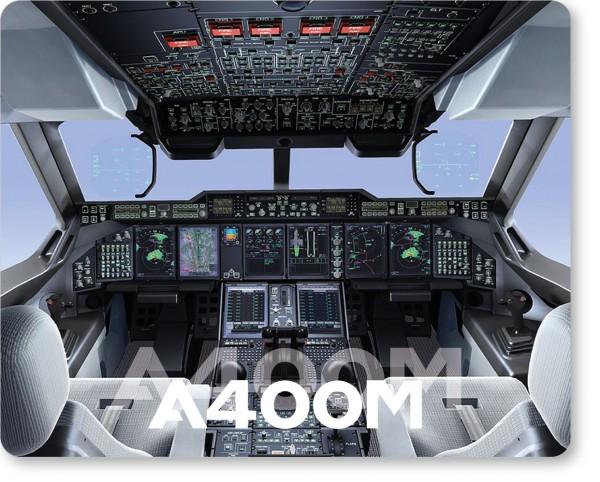 Airbus A400M Cockpit Mousepad