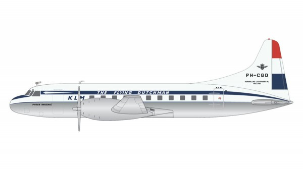 Convair CV-340 KLM 1950 livery, polished belly Scale 1/200