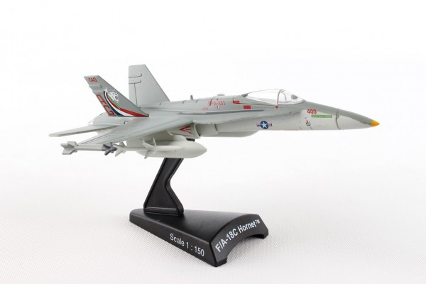 POSTAGE STAMP McDonnell Douglas F/A-18C Hornet VFA-131 Wildcats Scale 1/150