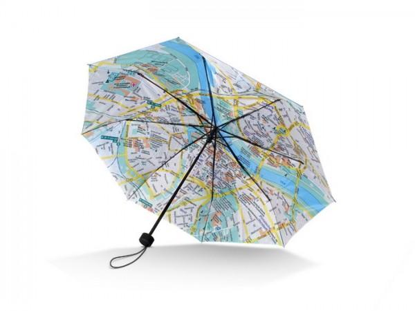 """Mini-Taschenschirm Stadtplan / Umbrella Rainmap City """"Dresden"""""""