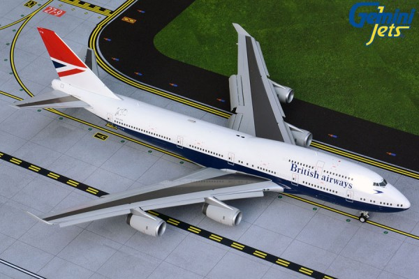 """Boeing 747-400 British Airways """"Negus Retro Livery"""" Flaps/Slats Extended Scale 1/200"""