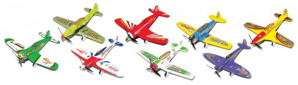 AIR SHOW die-cast Toyplane mixed Blister box