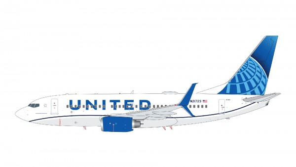 Boeing 737-700 United Airlines New Livery N21723 Scale 1/200