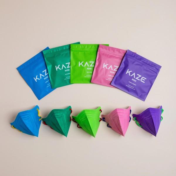 "10 Stück/5 Farben á 2 Stück Atemschutzmaske für Kinder KAZE Mini ""Mini Eye Candy Series"""
