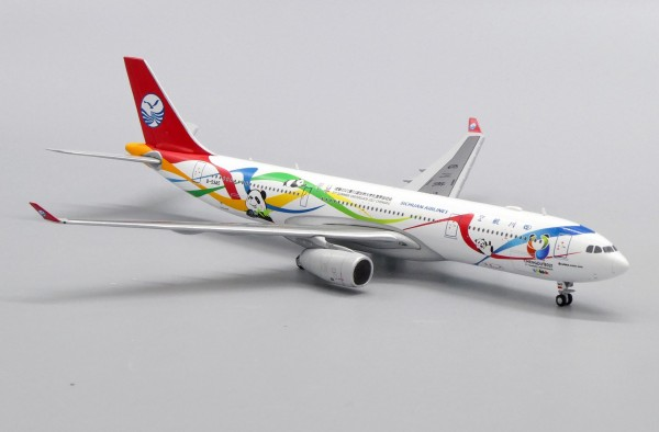 """Airbus A330-300 Sichuan Airlines """"Chengdu 2021 31st Summer Universiade Livery"""" B-5945 Scale 1/400"""