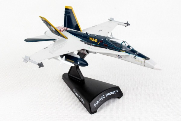 POSTAGE STAMP MCDonnell Douglas F/A-18C Hornet VFA83 Rampagers Scale 1/150