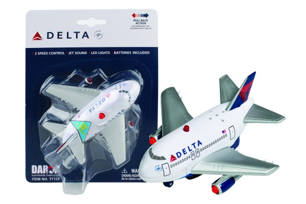 Delta Airlines Pull back plane w/Light & Sound