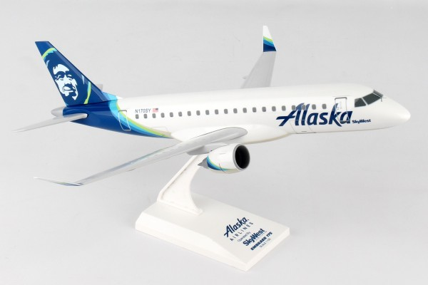Embraer ERJ-175 Alaska Airlines Skywest New Livery N170SY Scale 1/100