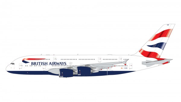 Airbus A380-800 British Airways G-XLED Scale 1/400