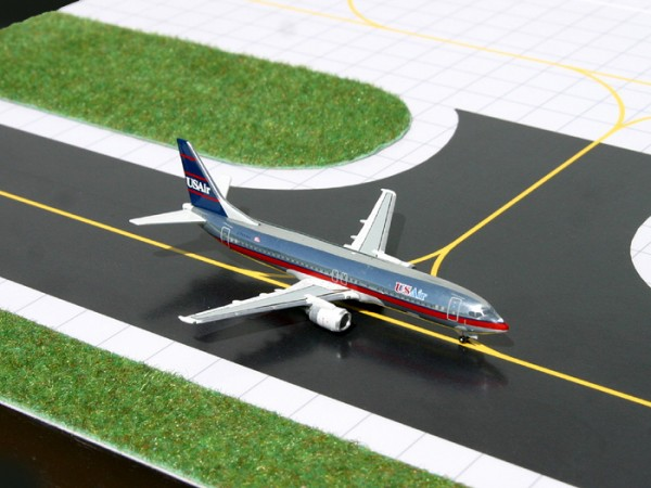 Boeing 737-400 US Air Polished Metal N783AU Scale 1/400