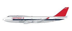 Boeing 747-400 Northwest Airlines (polished 1980s livery) Scale 1/200