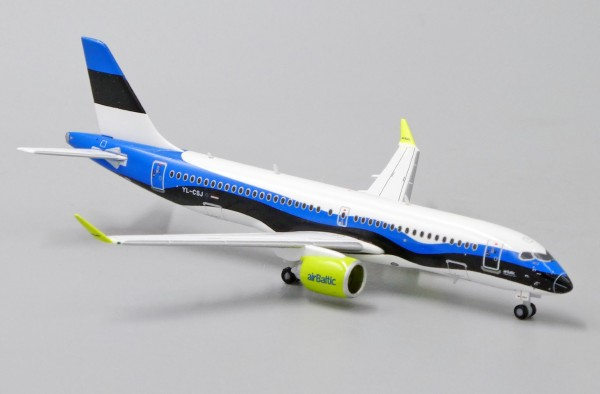 """Airbus A220-300 Air Baltic """"Estonian Flag Livery"""" YL-CSJ Scale 1/400"""