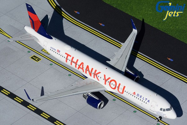 "Airbus A321-200 Delta Air Lines ""Thank you"" N391DN Scale 1/200"