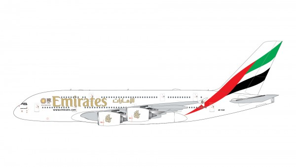 """Airbus A380-800 Emirates with """"Expo 2020"""" logo A6-EUD Scale 1/400"""