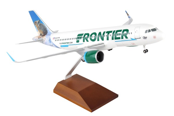 """Airbus A320neo Frontier Airlines """"Choo the Pika"""" Scale 1/100 w/Gear"""