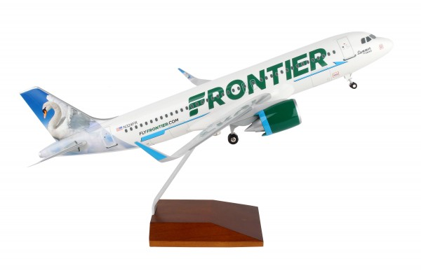 "Airbus A320 Frontier Airlines ""Swan"" Scale 1/100 w/Gear"