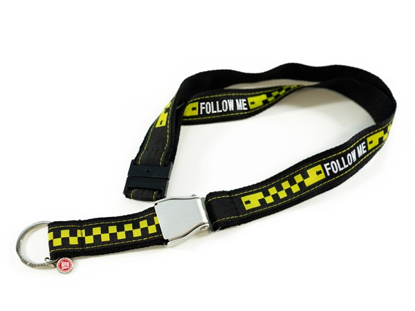 FOLLOW ME Schlüsselband/Lanyard with Seat belt Buckle