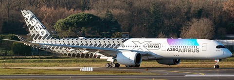 """Airbus A350-900XWB House Color """"Airspace Explorer"""" Flaps Down Version F-WWCF Scale 1/400"""