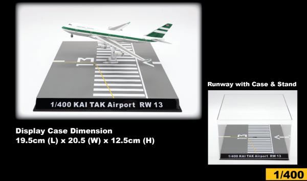 Hong Kong Kai Tak Airport Runway 13 Display Case Scale 1/400