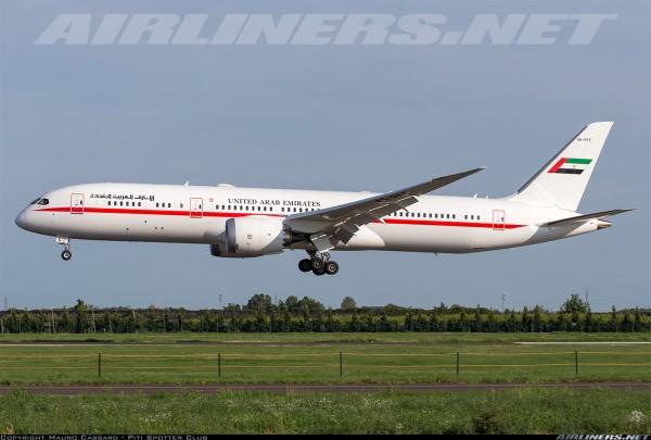 Boeing 787-9 UAE Abu Dhabi A6-PFE Scale 1/400