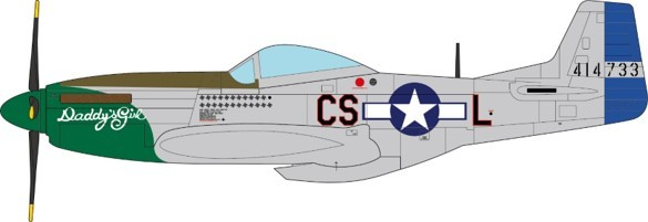 P-51D Mustang Raymond S. Wetmore U.S. Army Air Forces 370th FS, 359th FG, 8th AF, 1945 Scale 1/72 #