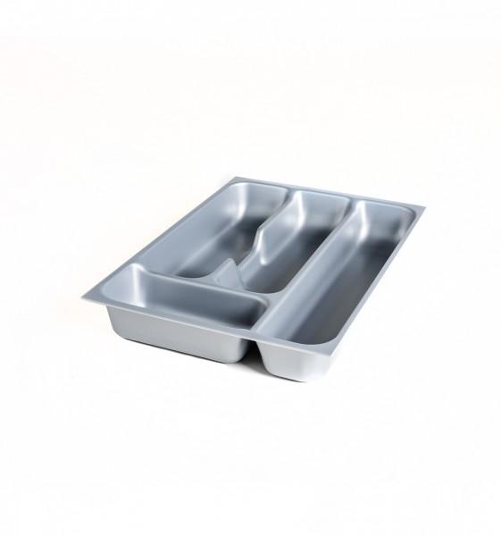 cutlery tray for drawer, polysyrene in alu metallic