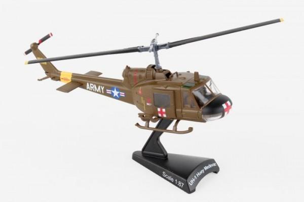 POSTAGE STAMP Bell UH-1 US Army Huey Medevac Scale 1/87