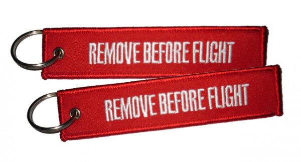 Key ring - Remove Before Flight both sides