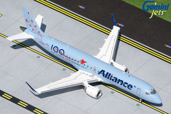"""Embraer 190 Alliance Airlines """"Air Force Centenary 2021"""" VH-UYB Scale 1/200"""