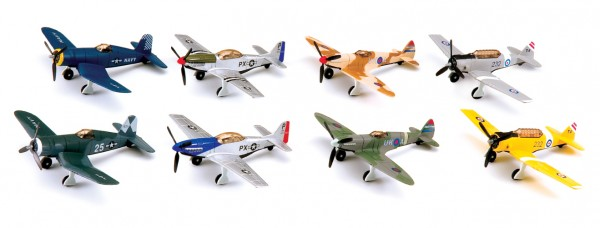 CLASSIC FIGHTER die-cast Toyplane mixed Blister box