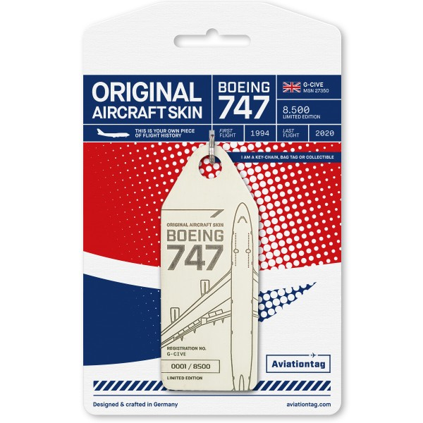 Aviationtag Boeing 747 – G-CIVE (British Airways) white